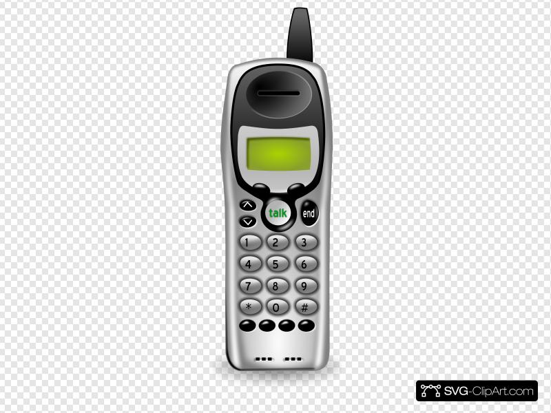 Cordless Phone Clip art, Icon and SVG.