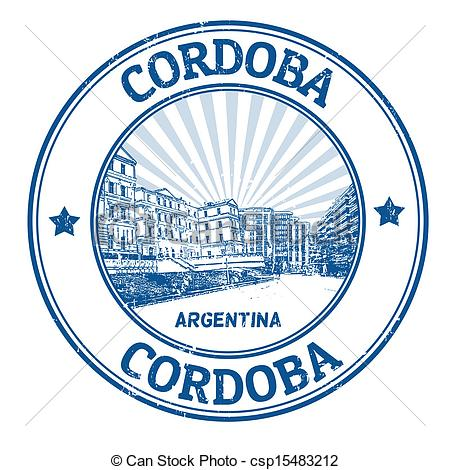 Vector Clip Art of Cordoba stamp.