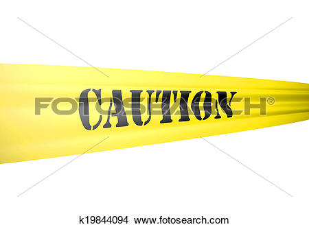 Drawings of caution tickertape style cordon on yellow tape on.