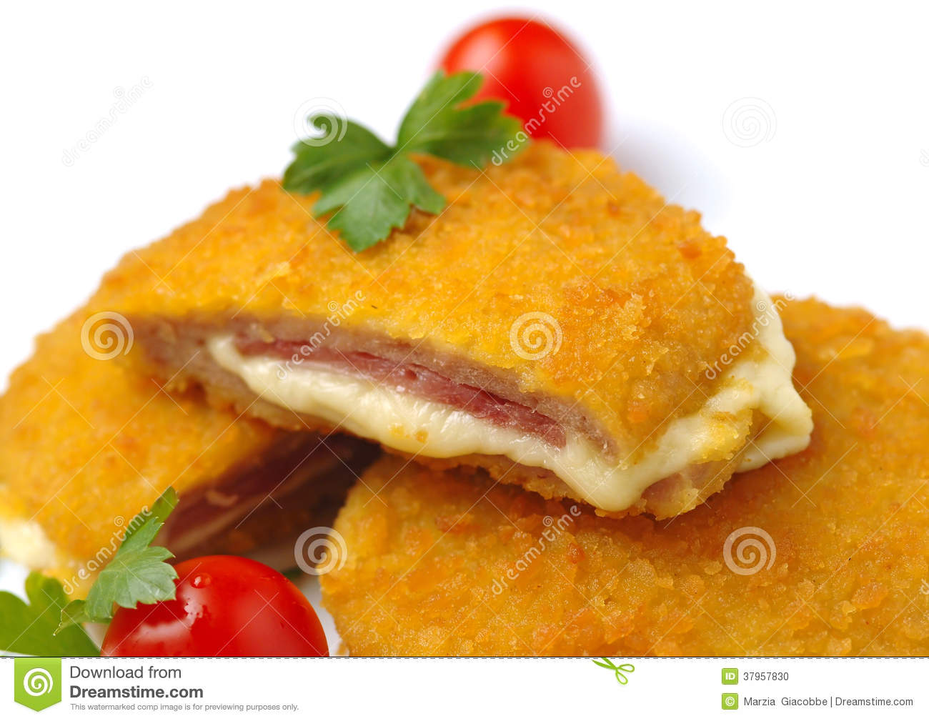 Chicken Cordon Bleu Royalty Free Stock Photos.