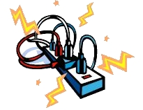 Extension Cord Safety Clipart.