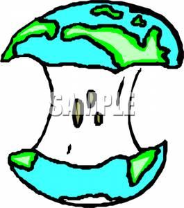 Art Image: The Globe on an Apple Core.