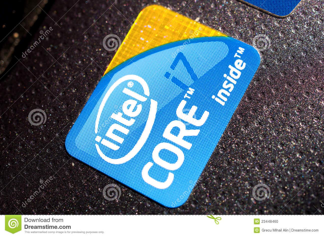 Intel Core I7 Logo Editorial Image.