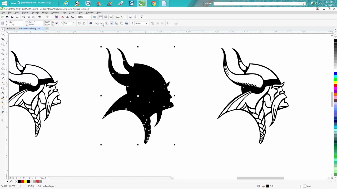 Corel Draw Tips & Tricks Clipart, cut line, cut and engrave.