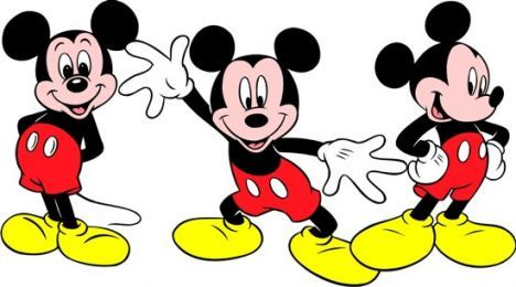 Mickey Mouse clipart in corel draw format.