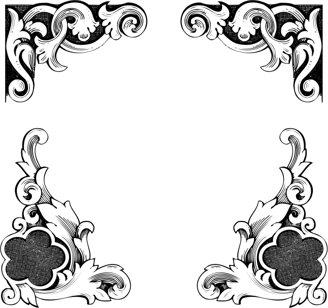 European Classic lace border Vector Free Vector Free Download.