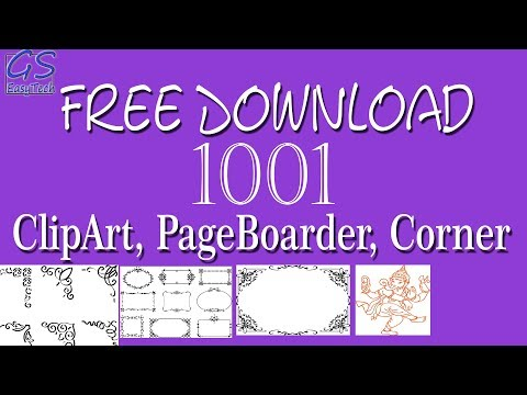 Download Free Clipart, Page border, page corner for coreldraw.