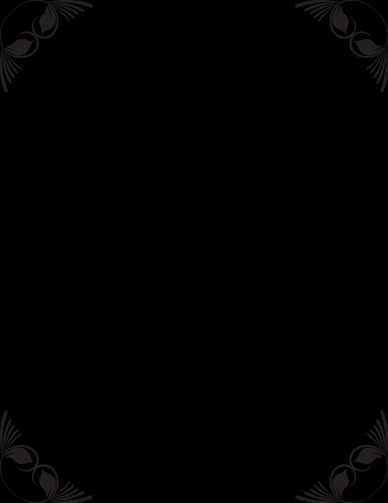 Black and White Frame Border Design.
