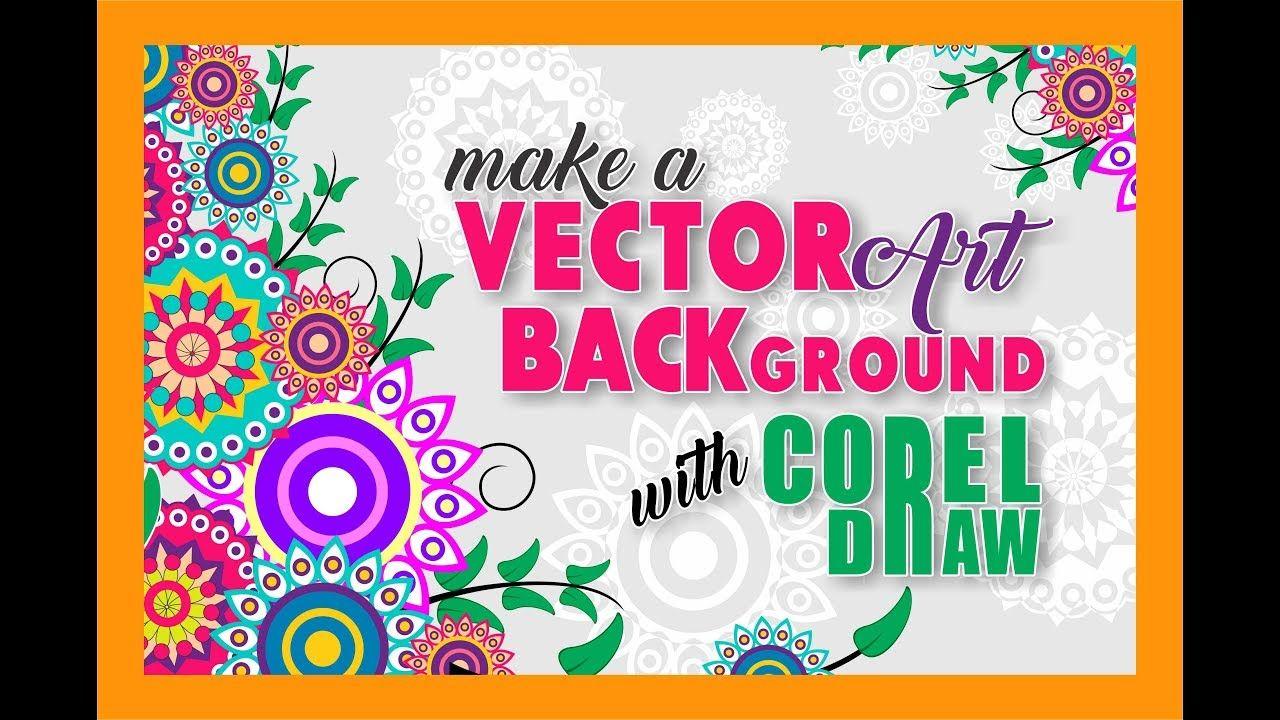 membuat vector flower dengan corel draw x7.