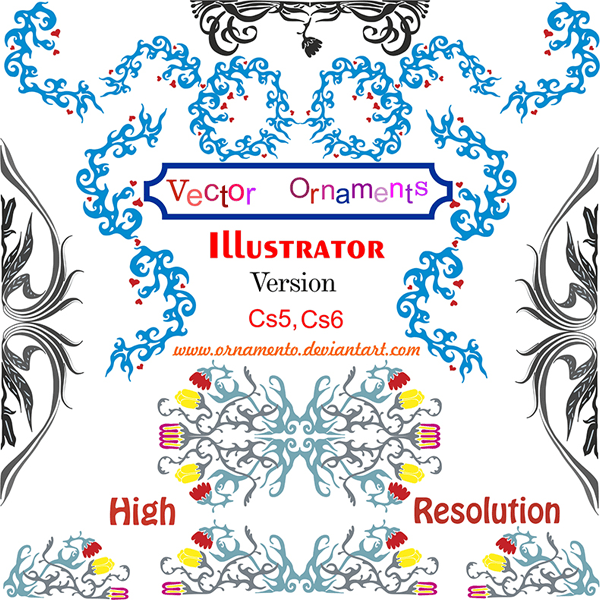 Free Vector Ornaments Corel Draw.