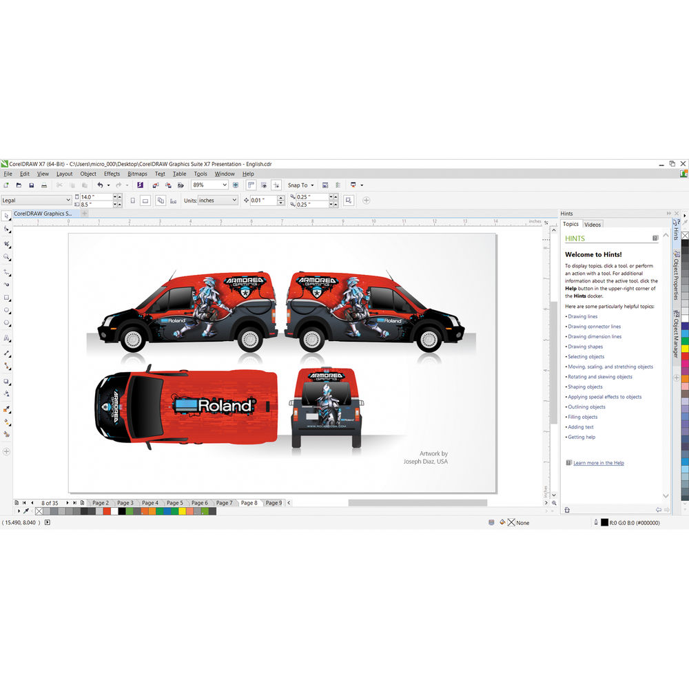 CorelDraw Graphics Suite X7 Upgrade for Windows (Download).