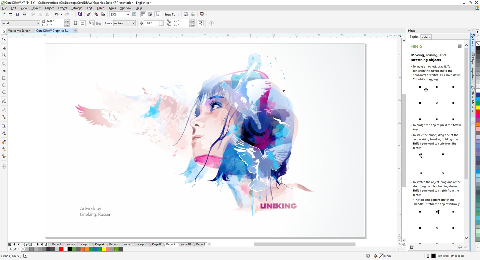 New CorelDRAW Graphics Suite X7.
