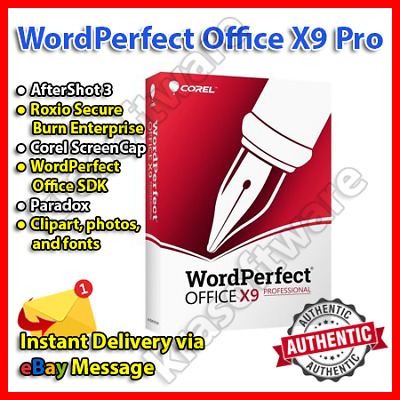 COREL WORDPERFECT OFFICE X9 Professinal Lifetime Activation.
