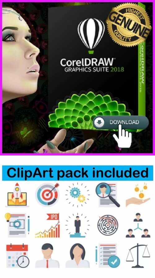Image Video and Audio 41859: Coreldraw Graphics Suite 2018 Official.