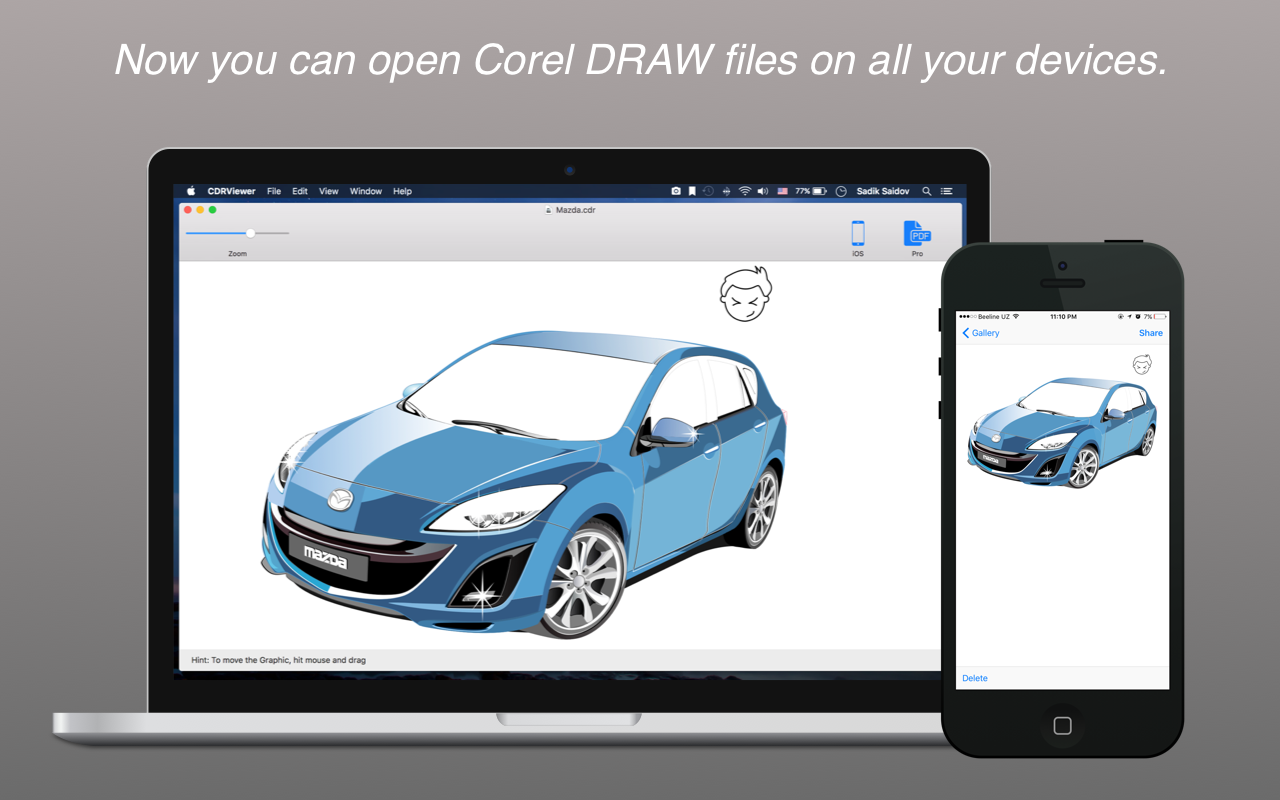 List of Features of CorelDRAW CDR Reader Freeware