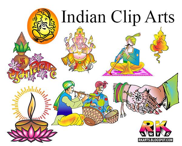 Indian Wedding Clip Arts.