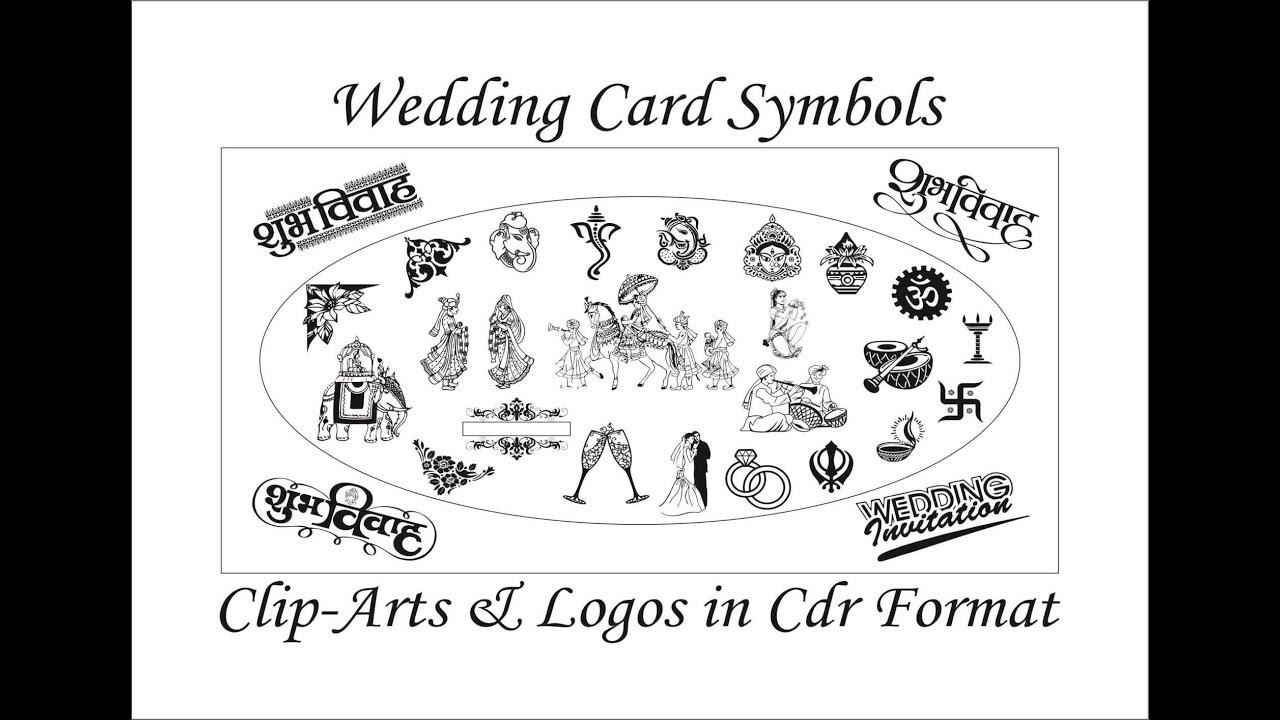 Best Wedding Card Symbols, Clip.