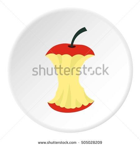 Apple Core Stock Photos, Royalty.