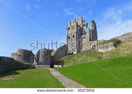 Corfe Castle Stock Photos, Royalty.
