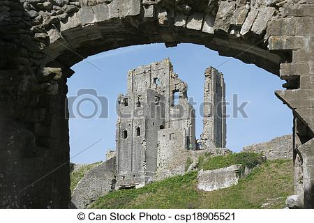 Stock Photo of Corfe castle csp18905521.