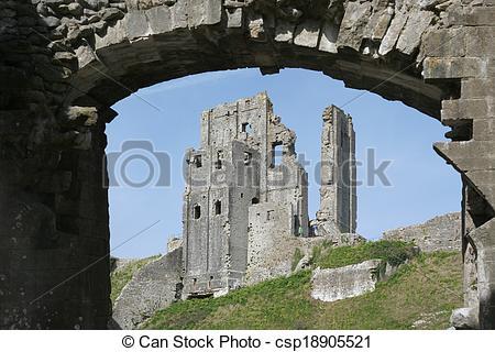 Stock Photo of Corfe castle csp18905521.