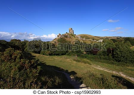 Stock Photographs of Corfe Castle Dorset.