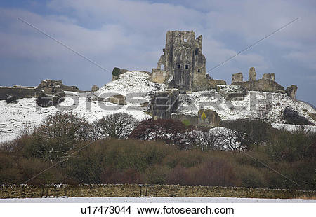 Stock Photo of England, Dorset, Corfe Castle, The thousand year.