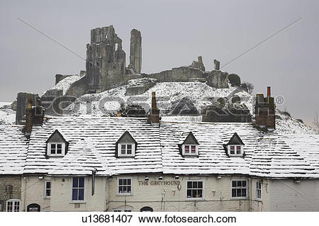 Picture of England, Dorset, Corfe Castle, The Greyhound pub, one.