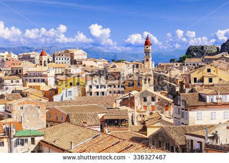 Corfu Town Stock Photos, Royalty.