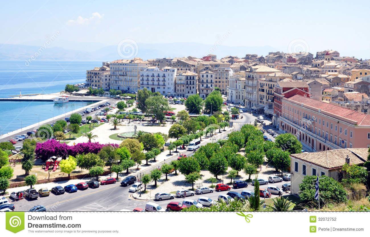 Corfu Town, Greece Editorial Photography.