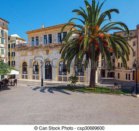 Stock Photography of Corfu City Hall (previously: Nobile Teatro di.