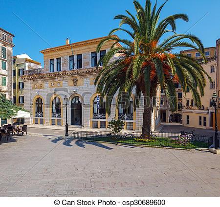 Stock Photography of Corfu City Hall (previously: Nobile Teatro di.