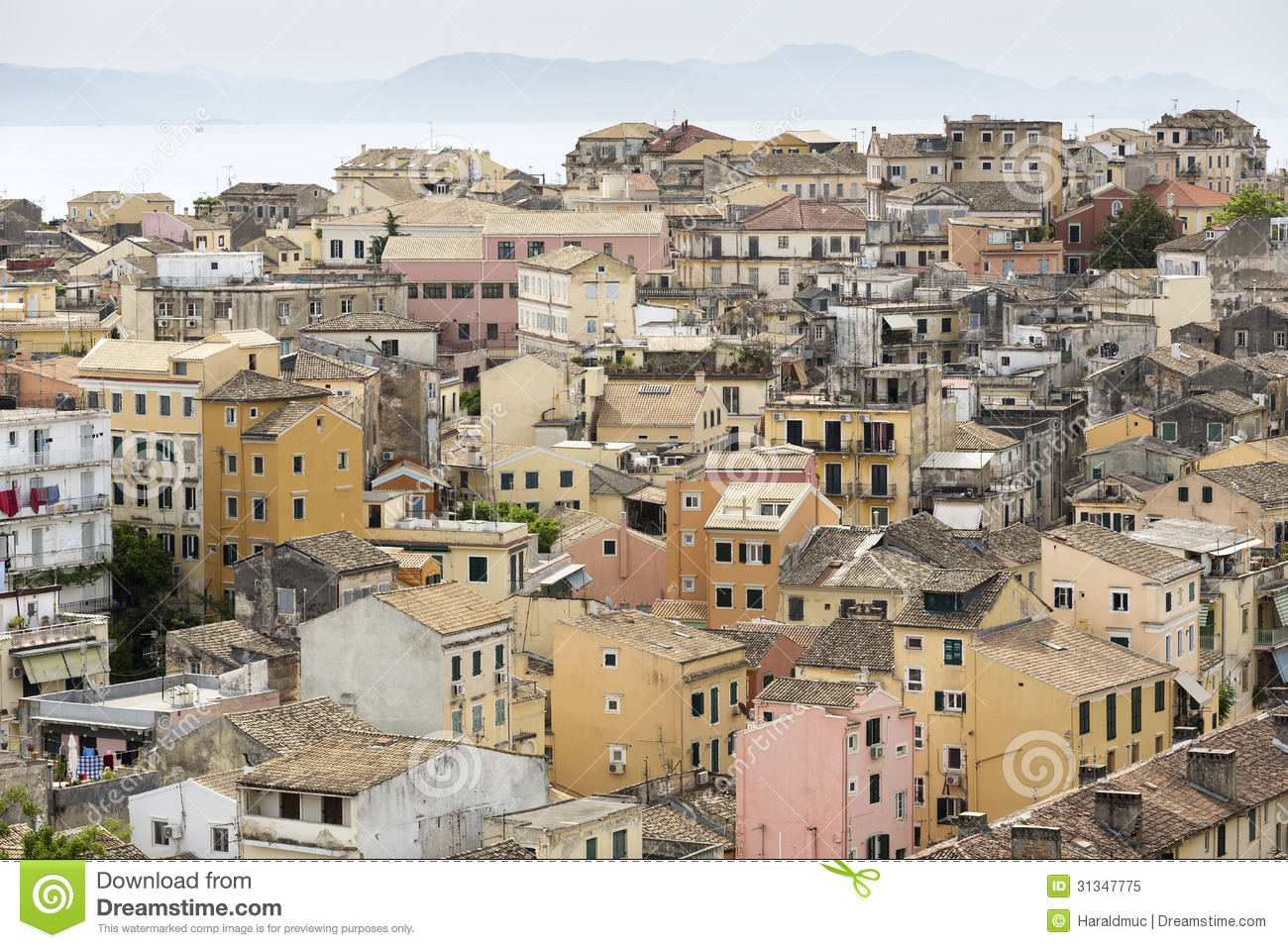 Corfu City, Greece Royalty Free Stock Photo.