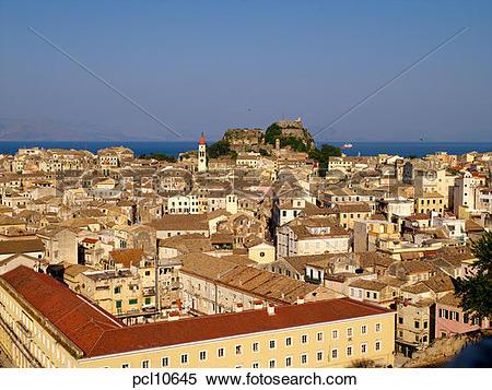 Stock Image of Corfu Island, Corfu Town pcl10645.