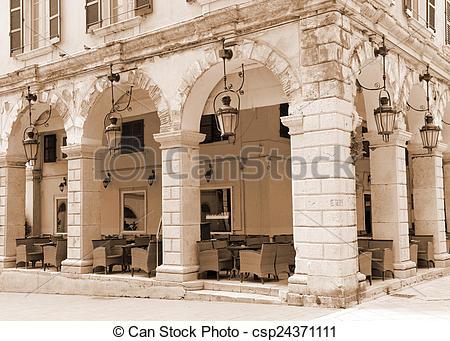 Stock Photography of Greece. Corfu. Corfu town. An open.