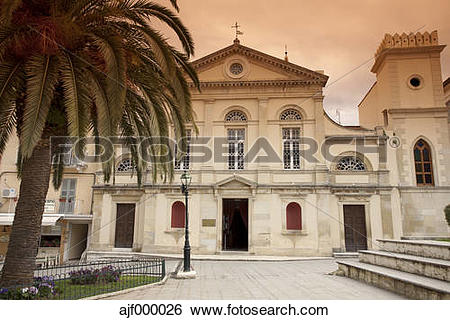 Stock Images of Greece, Corfu, Corfu Town, St. Jacobs Cathedral.