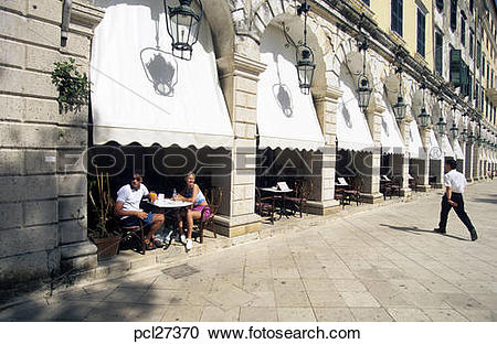 Stock Photography of Corfu Town, The Liston pcl27370.