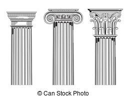 Corinthian pilasters Vector Clipart Illustrations. 2 Corinthian.