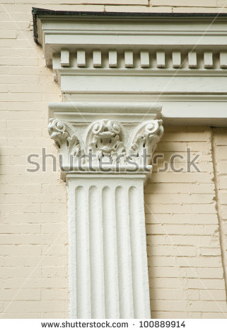 Corinthian Pilasters Stock Photos, Royalty.
