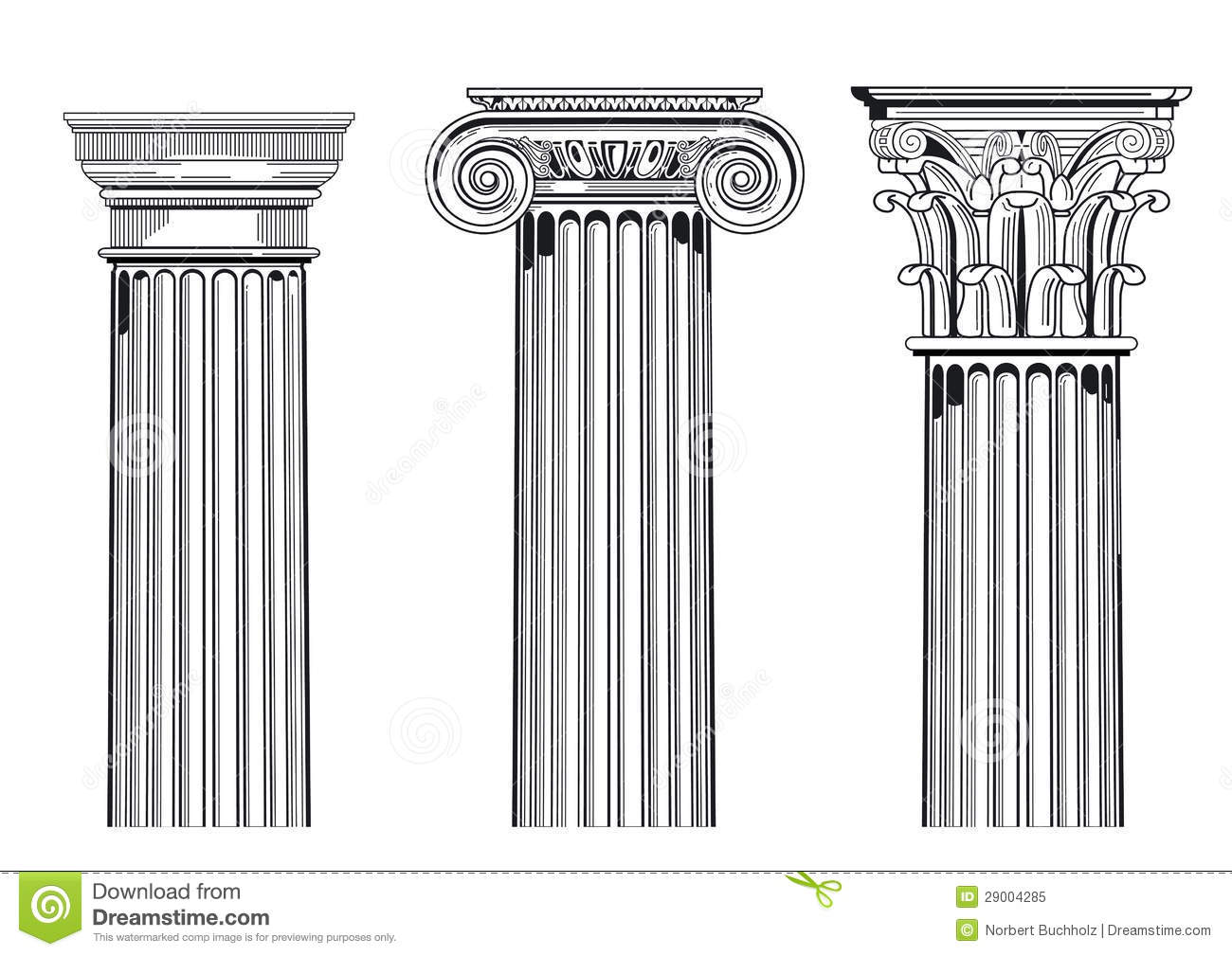 Corinthian Stock Illustrations.
