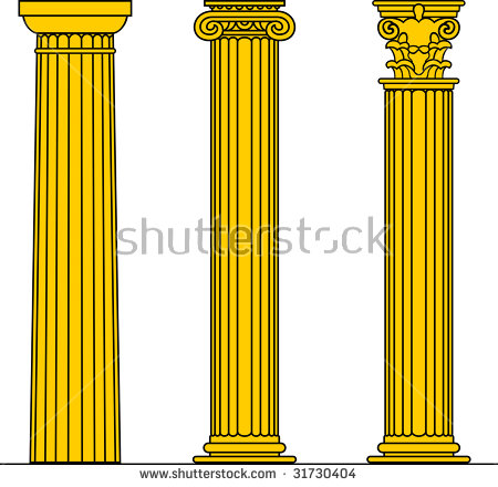 Doric Column Stock Photos, Royalty.