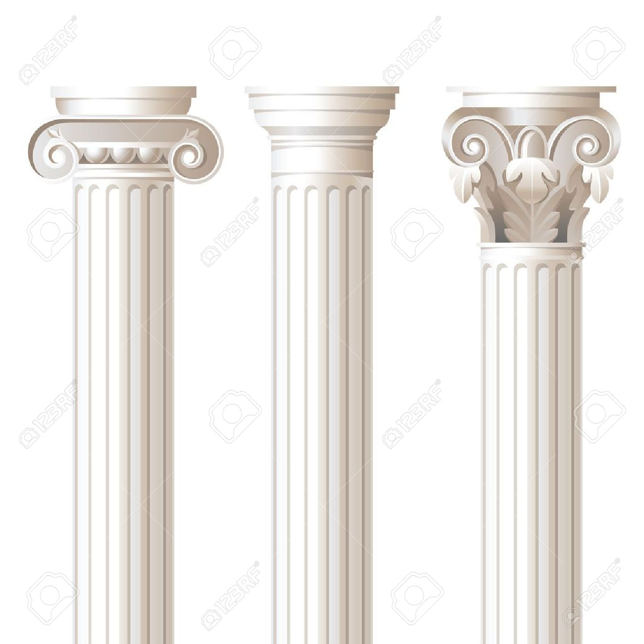 3 Columns In Different Styles.