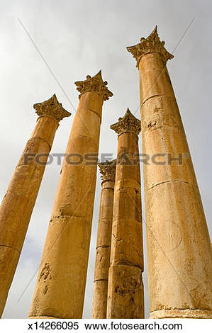 Stock Image of Corinthian style columns; ruins of the Artemis.