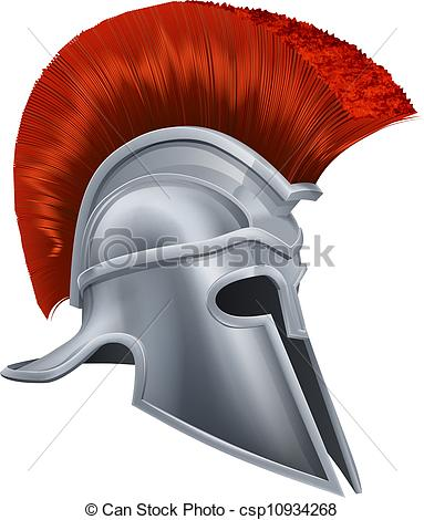 Clip Art Vector of Corinthian helmet.