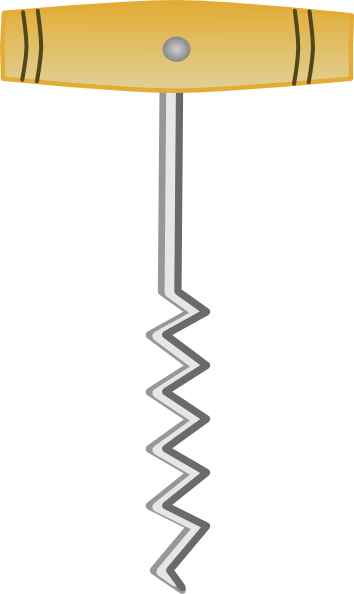 Cork Screw Opener Clip Art at Clker.com.