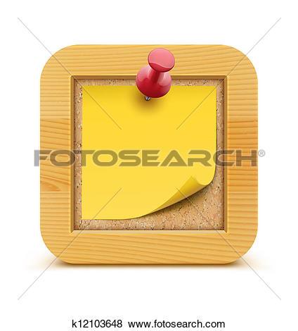 Stock Illustration of Cork board k12103648.