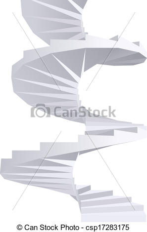 Vectors Illustration of Spiral staircase..