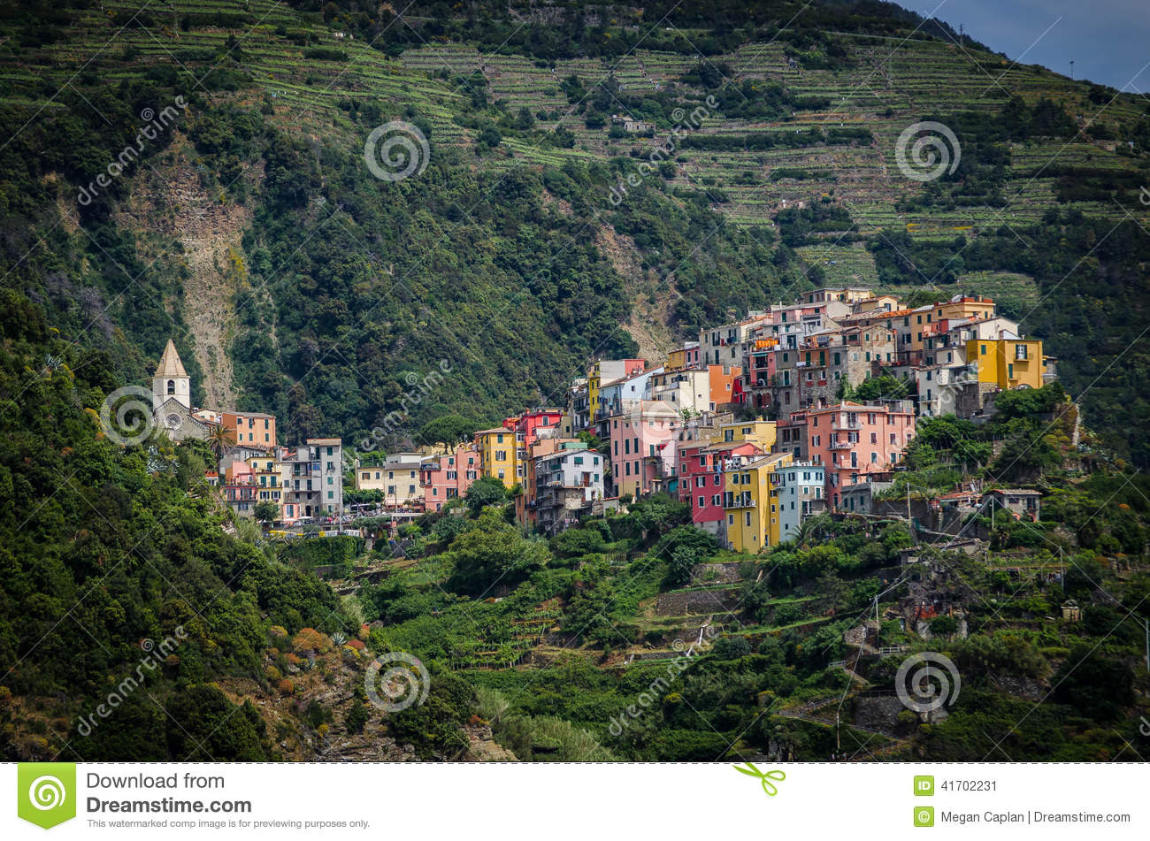 Corniglia, Italy Stock Photo.
