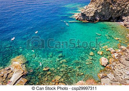 Stock Photography of Corniglia, Guvano beach (Cinque Terre, Italy.