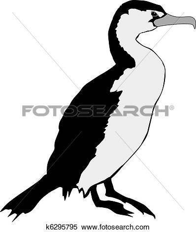 Clipart of Cormorant k6295795.